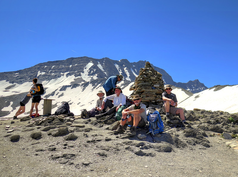 After the long climb it was time for a short rest at the Col de la Seigne (2515m) as we crossed into Italy.   Magically everyone we met from this point spoke Italian instead of French