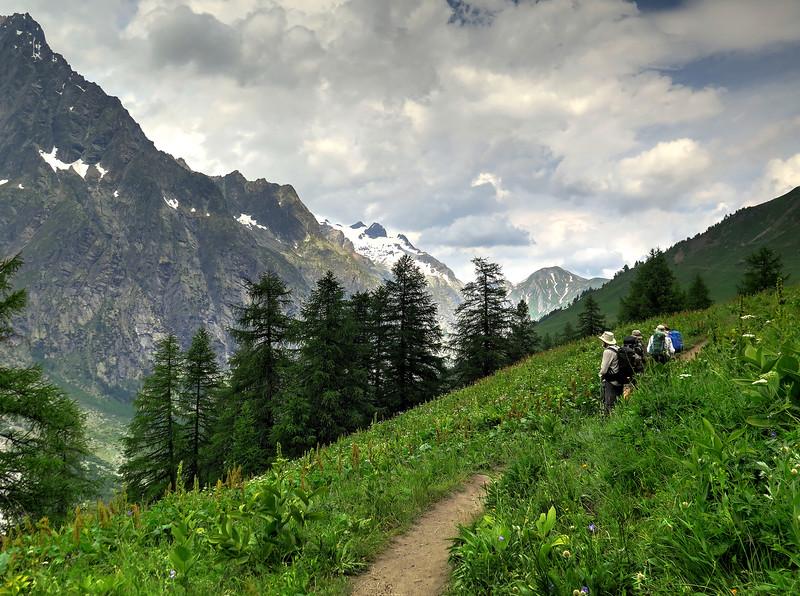 ..... constant alpine vistas