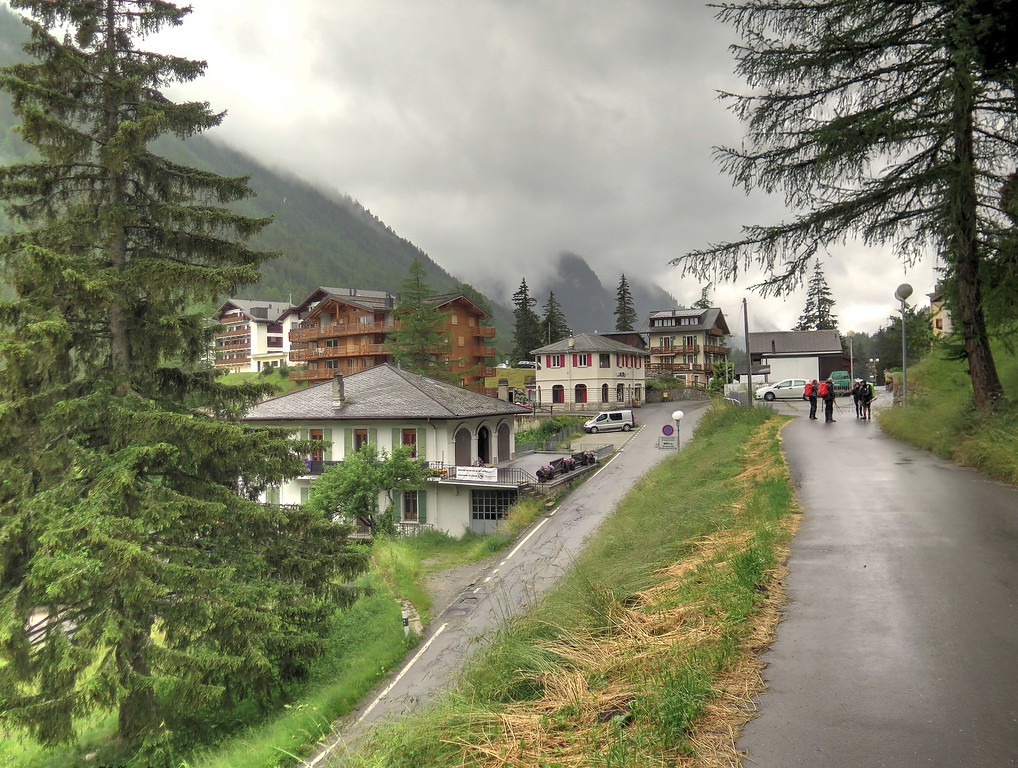 Champex on a cool damp afternoon