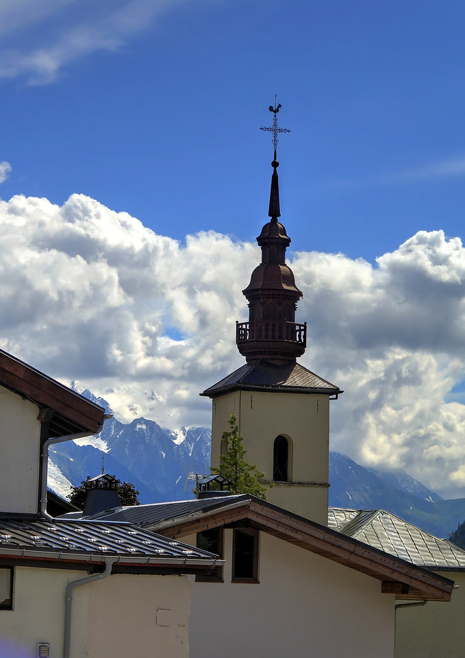 A church tower on Argentière