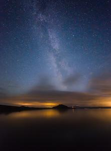 La Voie Lactée à Þingvellir