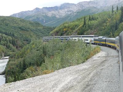 Train from Denali to Fairbanks