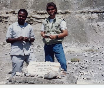 at Olduvai Gorge, site of the Leakey findings - origins of man.