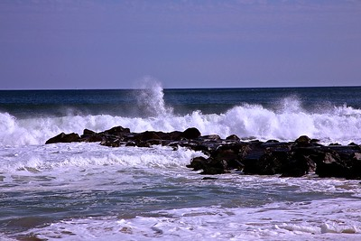 Surf Breaking Along The Jersey Shore in Monmouth County, NJ