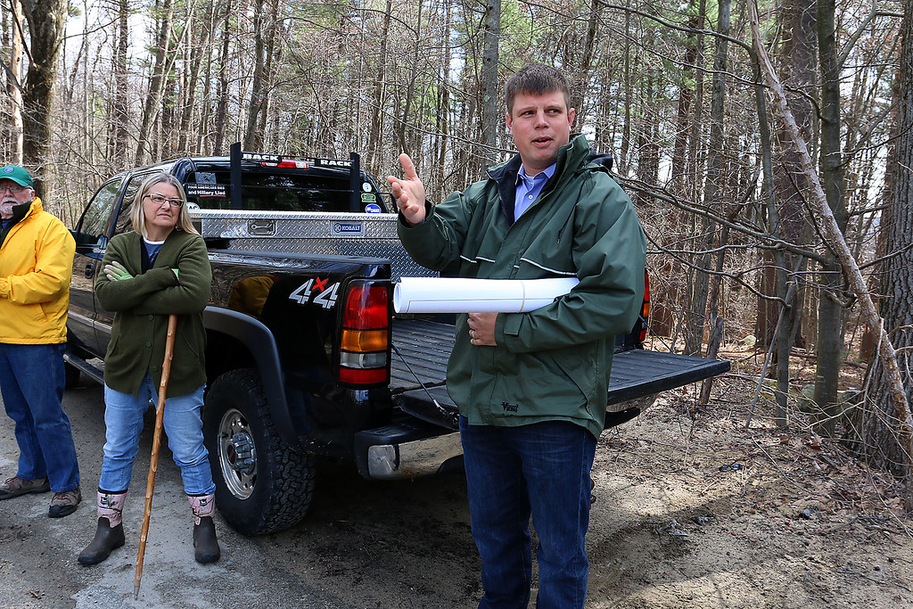 . A tour was take Thursday on land just off of Westminster Hill Road in Fitchburg that is the proposed site of new soccer fields. SENTINEL & ENTERPRISE/JOHN LOVE