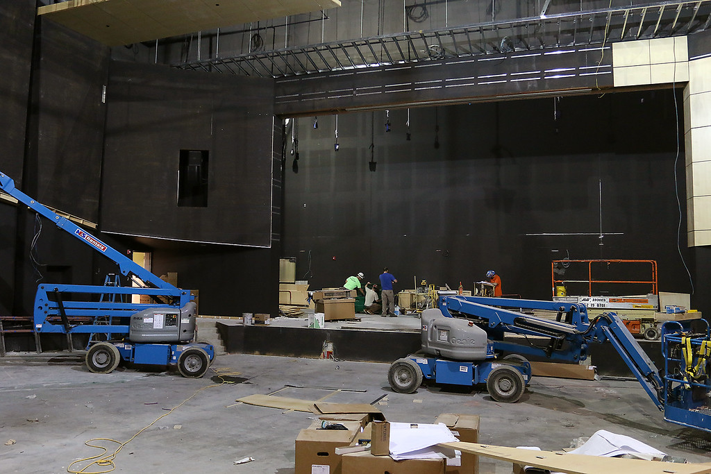 . Work was still being done to the auditorium at the new North Middlesex Regional High School on April 12, 2017. SUN/JOHN LOVE