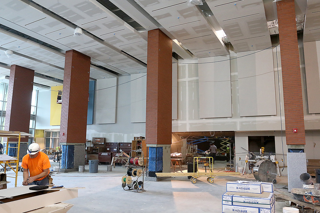 . The cafeteria of the new North Middlesex Regional High School in Townsend. SUN/JOHN LOVE