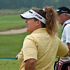 Fanny--a more recognizable caddy from when she carried for Faldo, now carries for Stenson.
