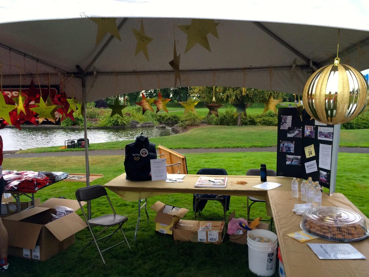 2015 Tour de Cure Oregon, Amberglen Park, Hillsboro.<br /> Margo's Champions tent