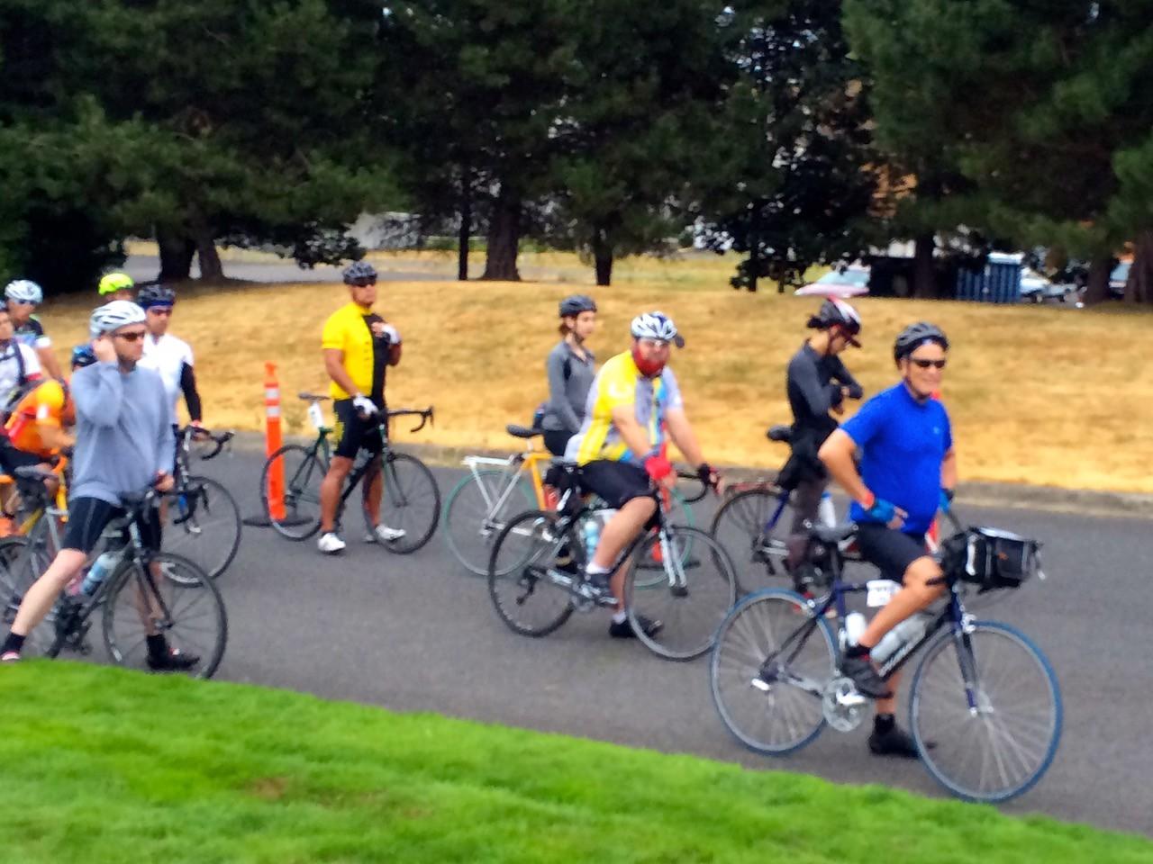 2015 Tour de Cure Oregon, Amberglen Park, Hillsboro.<br /> The Century Ride 6:30am start