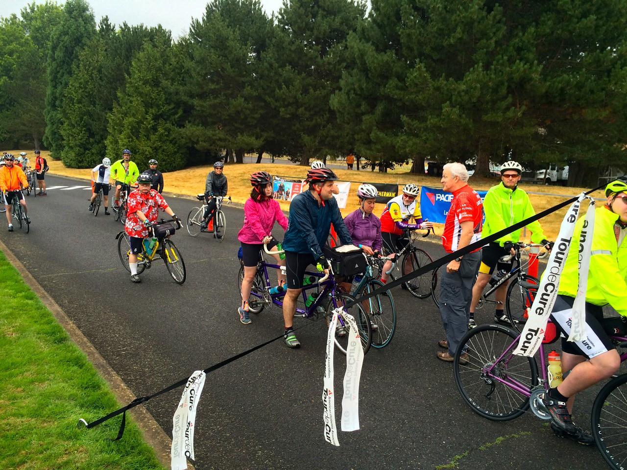 2015 Tour de Cure Oregon, Amberglen Park, Hillsboro.<br /> The Metric Ride (Blue course) 7:30am start