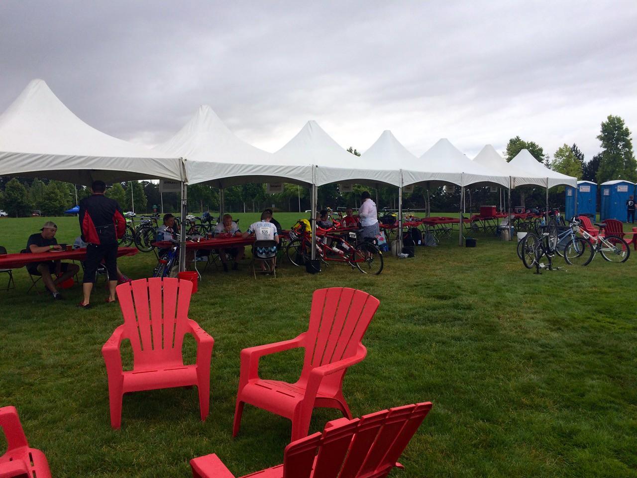 2015 Tour de Cure Oregon, Amberglen Park, Hillsboro.<br /> Team Tents ($5K teams)
