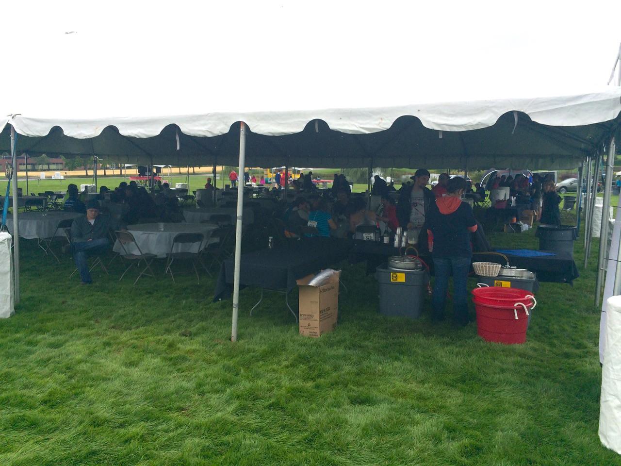 2015 Tour de Cure Oregon, Amberglen Park, Hillsboro.<br /> Food tents
