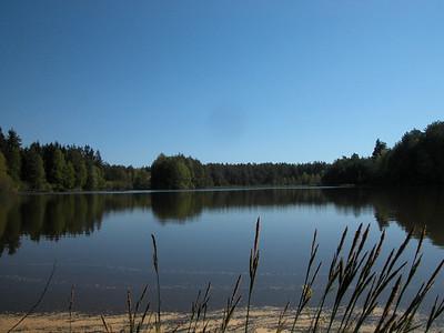 Naturschutzgebiet Postlohe Weiher mit Boot