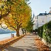 Salzach Promenade in Salzburg