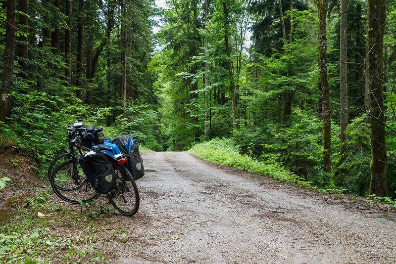 Unterwegs am slowenischen Teil des Drauradweges