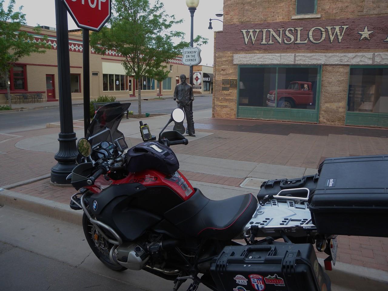 Standing on a corner Winslow AZ