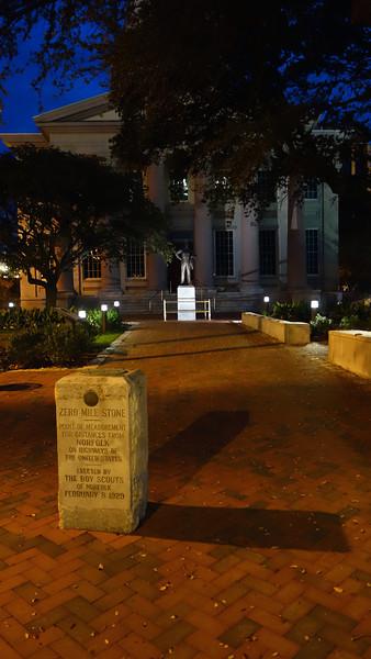 Zero Mile Stone Marker - MacArthur Memorial Park