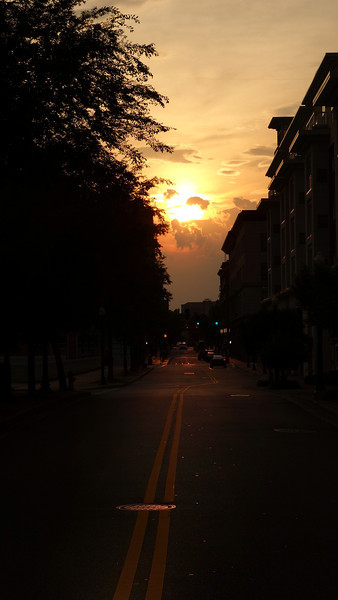 Sunset along Freemason