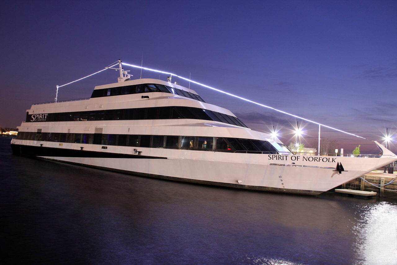 Spirit of Norfolk at night.