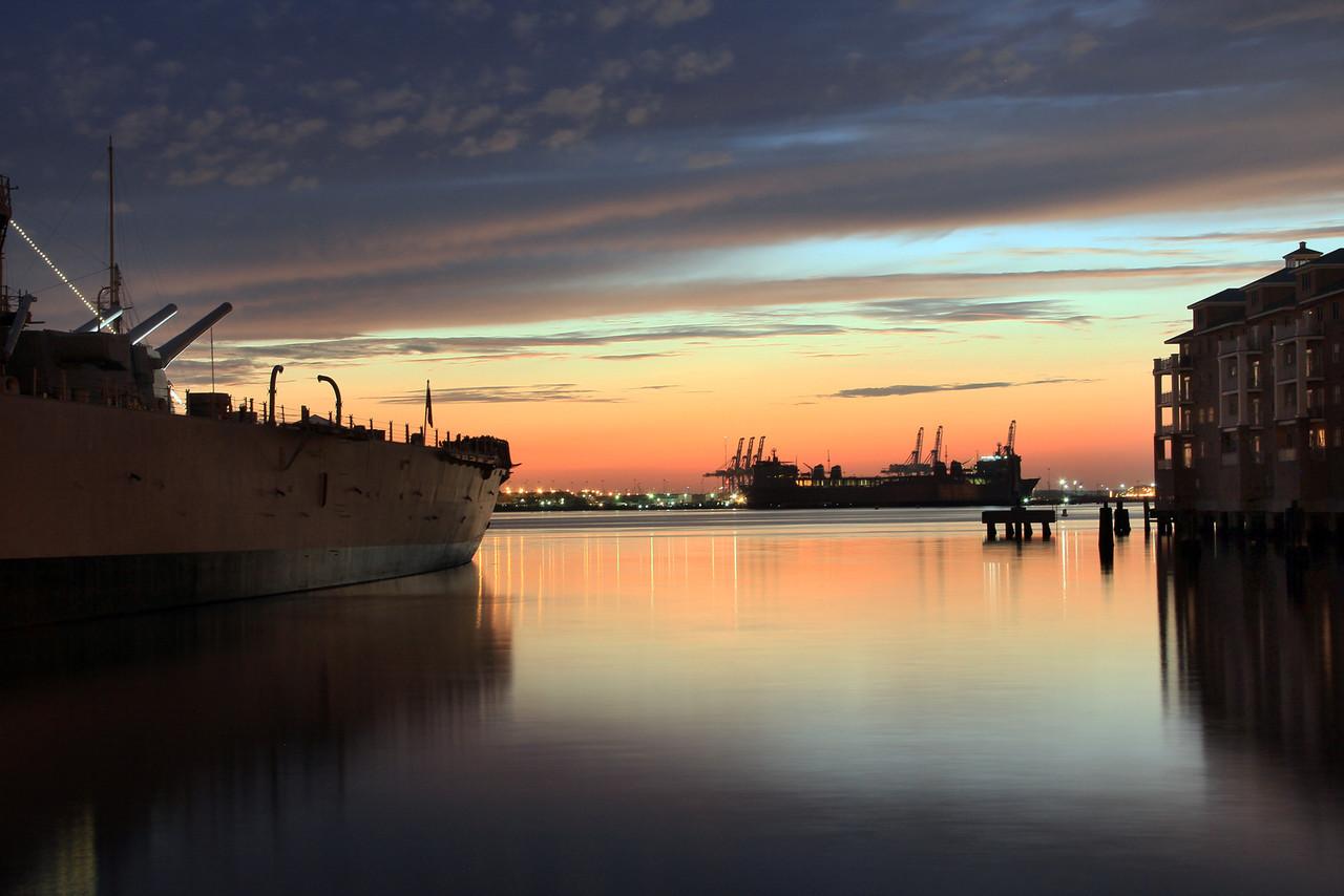 2012 Downtown Norfolk Sunset