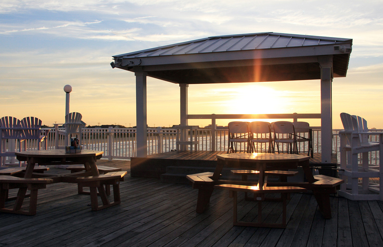 Sunset from Pier Restaurant in Ocean View
