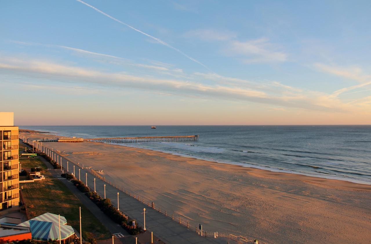 Virginia Beach Oceanfront Sunrise on Sand