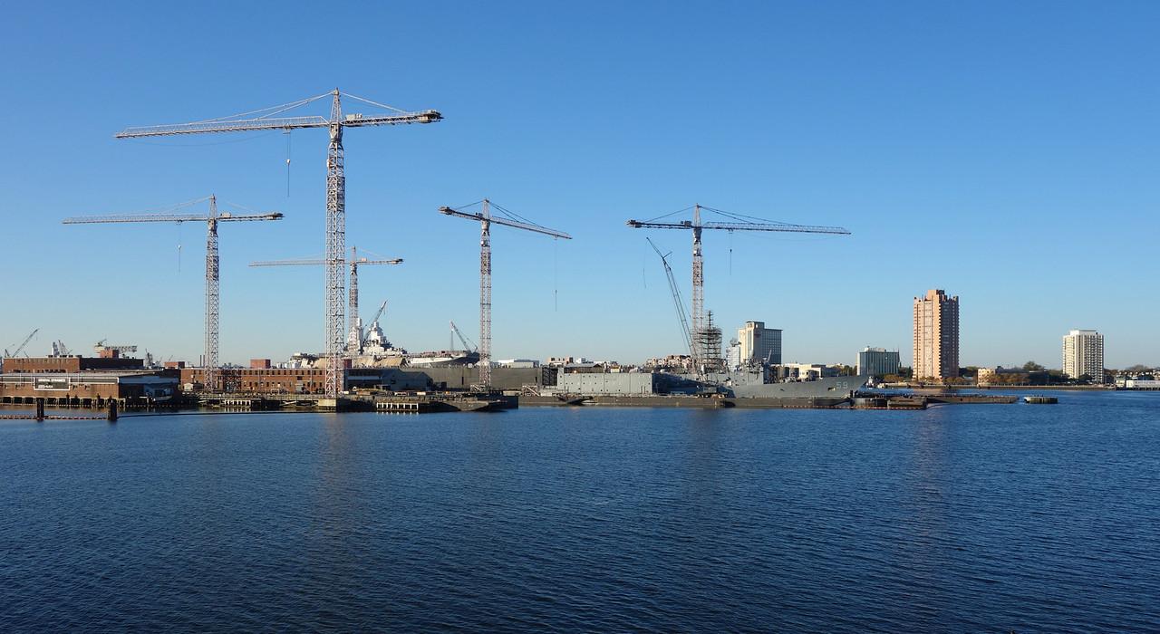 Elizabeth River Cranes