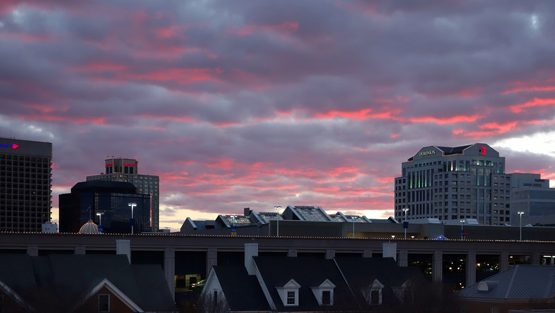 Red Skies from St Pauls Condo