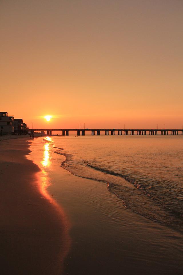 Chick's Beach Sunset at Chesapeake Bay Bridge