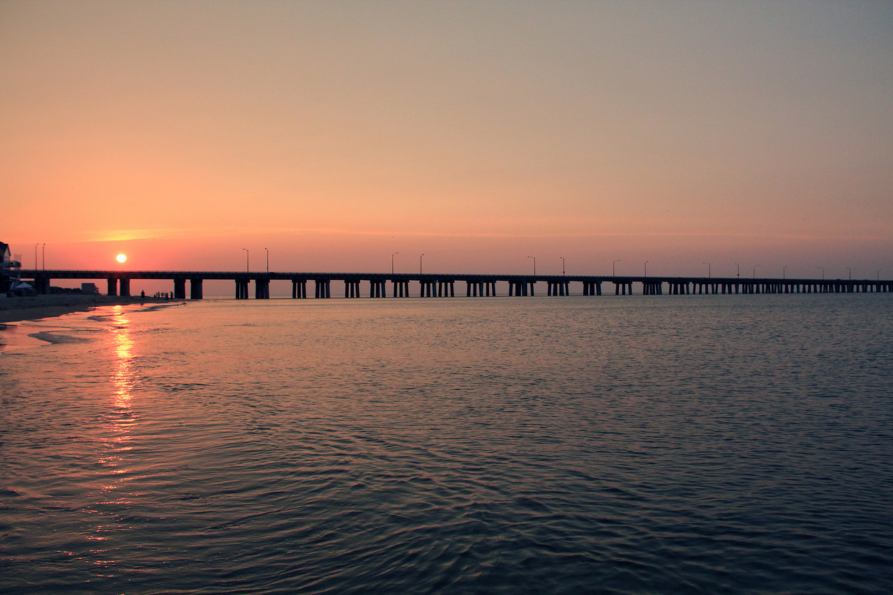 Sunset from Alexander's on the Bay - Virginia Beach