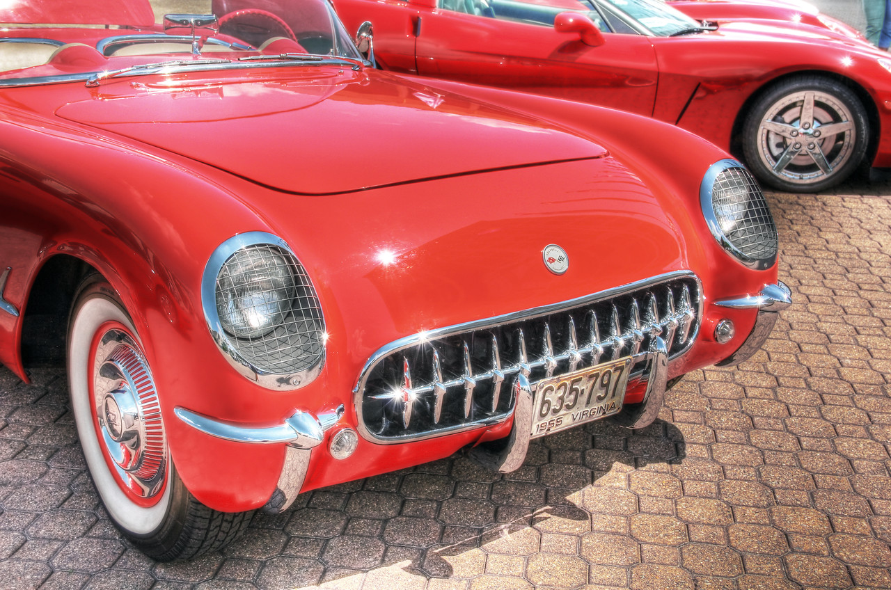 1955 Little Red Corvette: Chrysler Hall, Norfolk Virginia