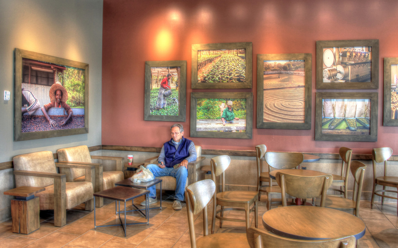 Loner at Starbucks