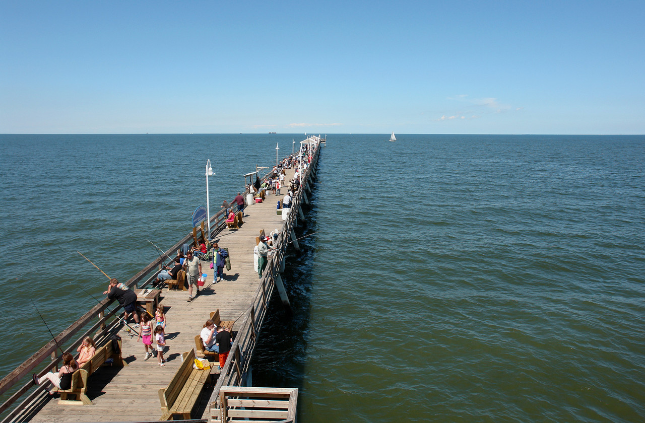 Ocean View Fishing Pier overlooking Chesapeake Bay