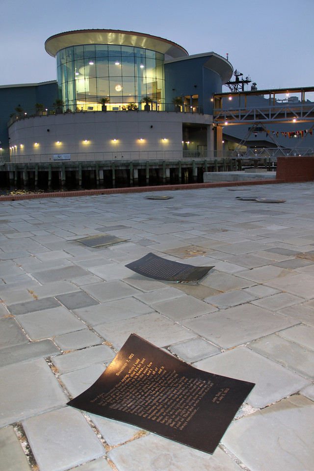 Half Moone Celebration Ctr and Part of Armed Forces Memorial (created 1998) Town Point Park, Norfolk