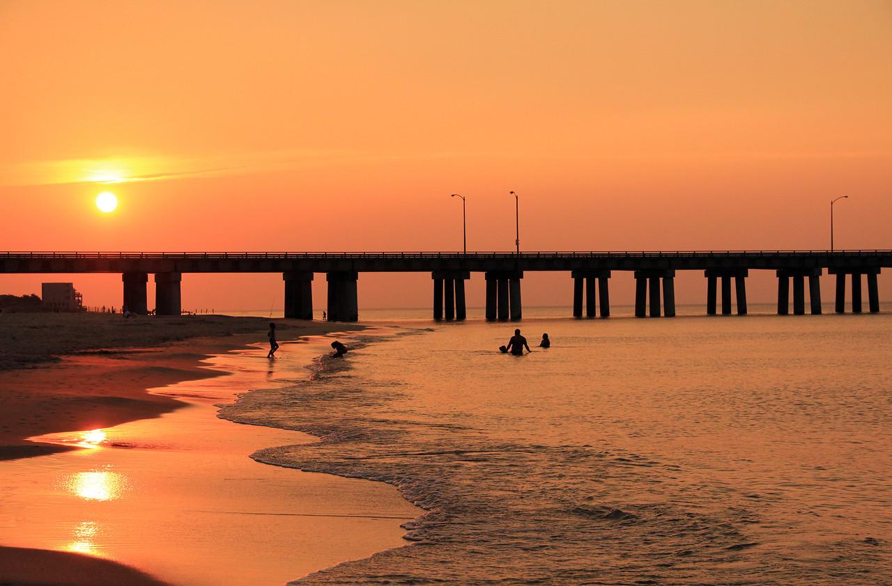 Sunset at Chesapeake Bay Bridge