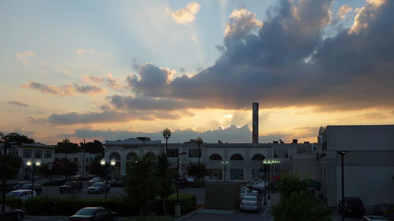 Sunset over 21 West, Ghent Norfolk