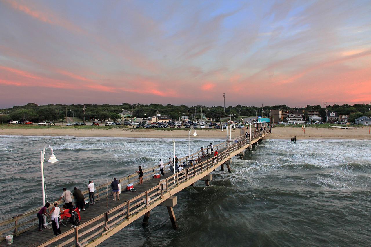 Red Skies - Ocean View Pier, Norfolk VA