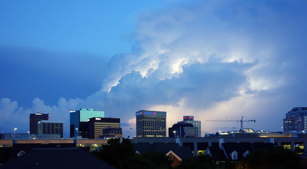 Thunder Boomers over downtown Norfolk - July 2013