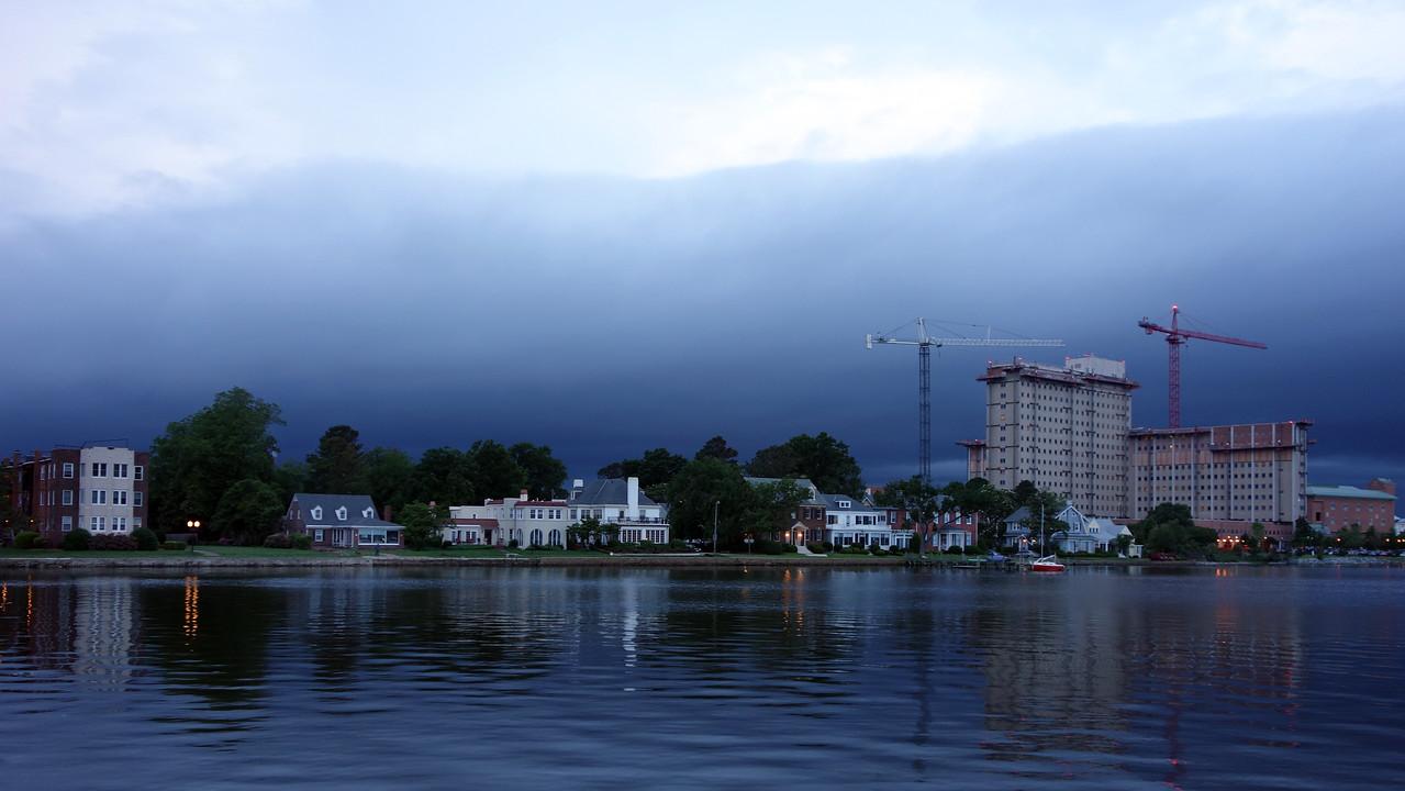 Storm front over Portsmouth, Va