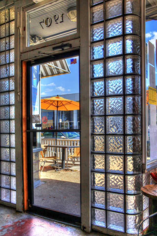 Cafe Stella's Glass Block Entrance - Norfolk, Virginia