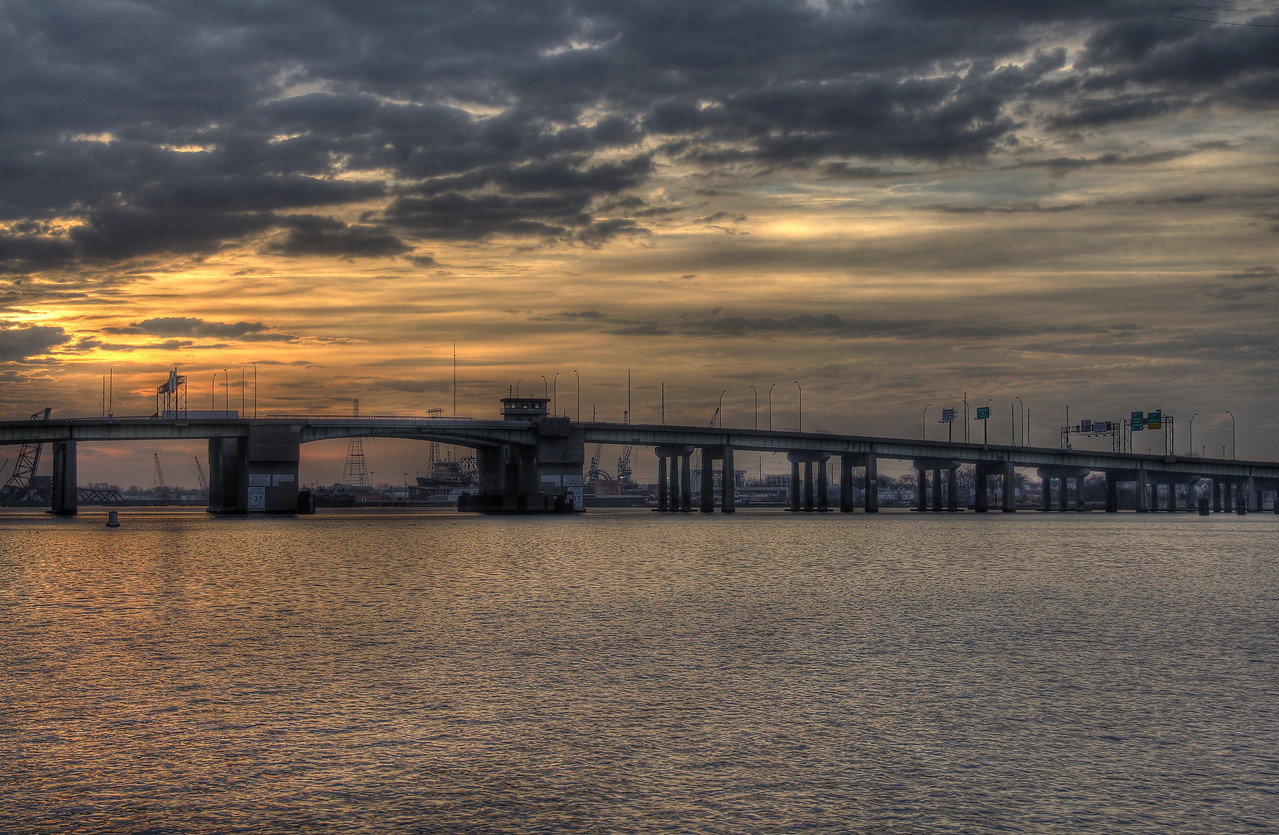 The Berkley Bridge from Norfolk to Portsmouth, VA