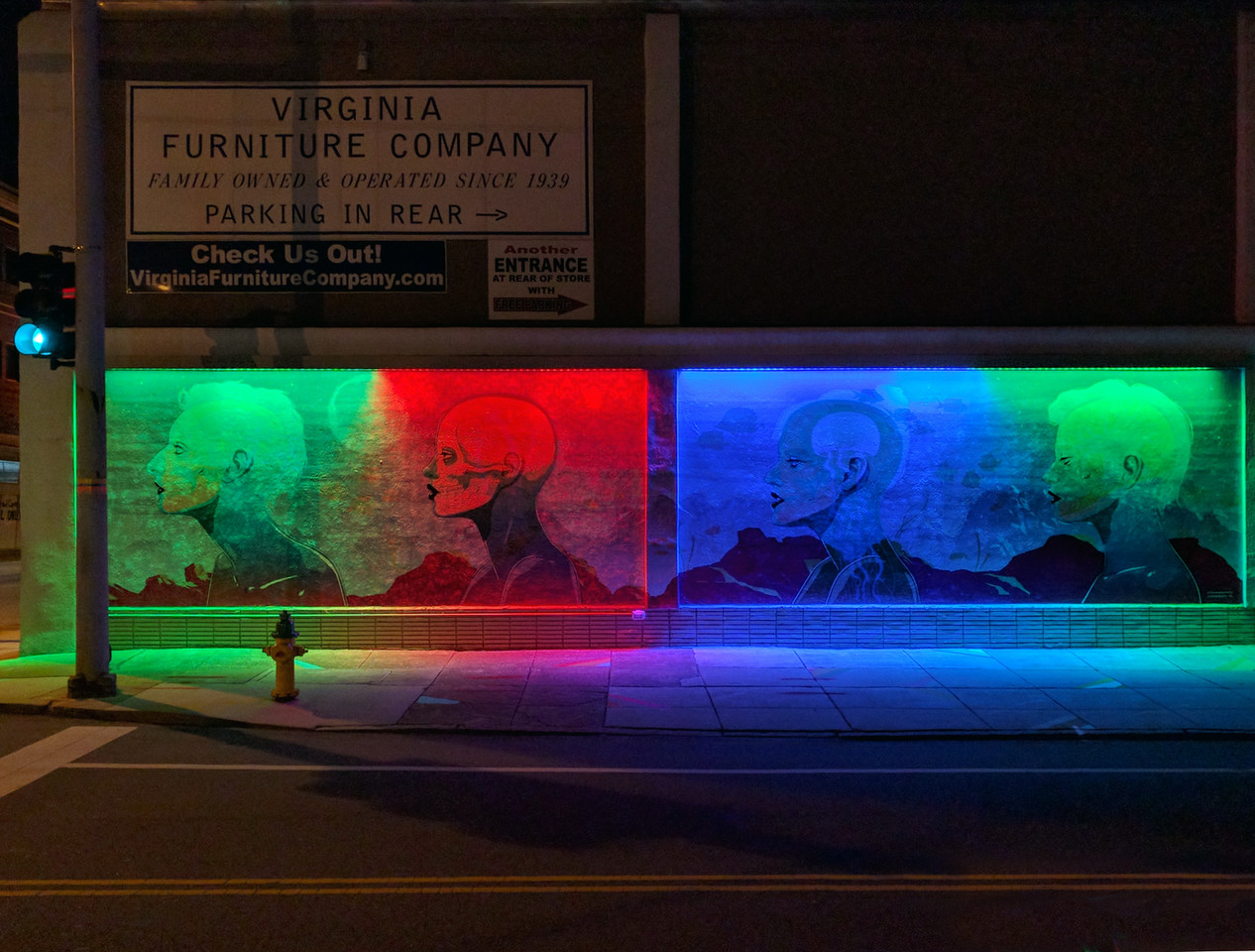 """Transparent Seas""  -- Neon District - Granby Street"