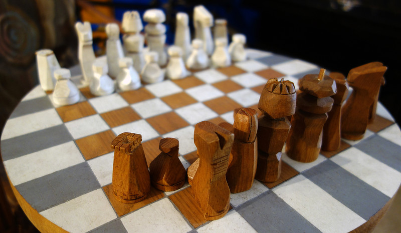 aLatte Cafe's Chess Set