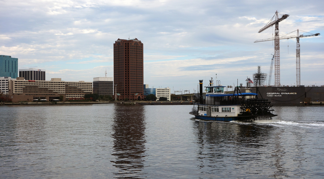 Elizabeth River Ferry to Downtown Norfolk