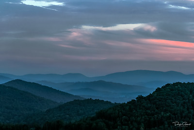 """Blue Hour on the Blue Ridge"""