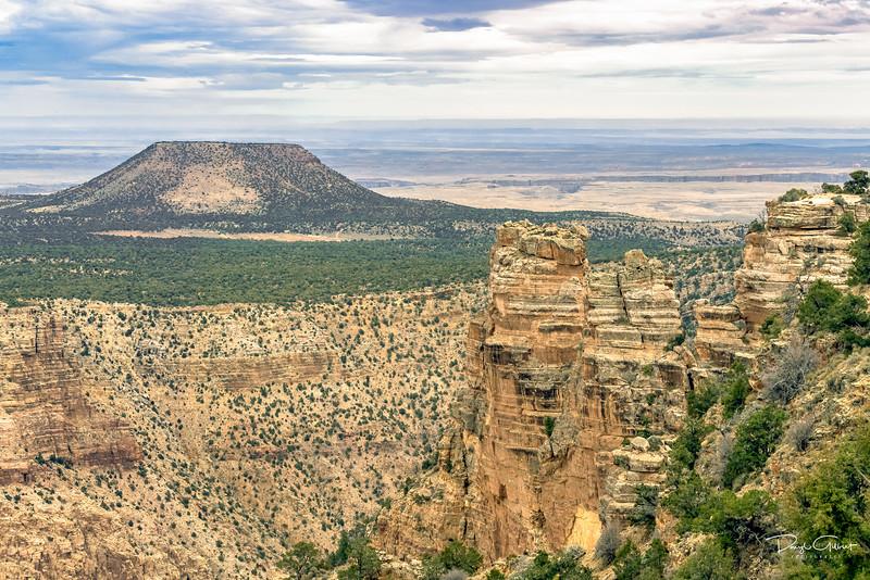 Mesa Over Painted Desert