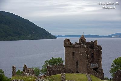 Grant Tower, Urquhart Castle Overlooking Loch Ness