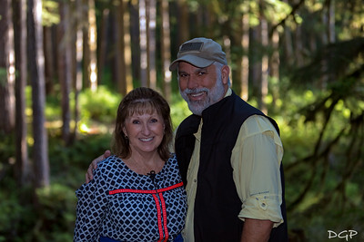 Two Happy Travelers at Sol Duc Falls