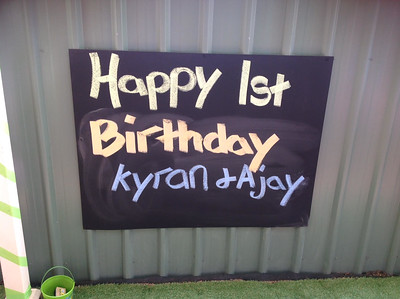 Kyron & Ajay first birthday